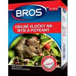 Rodenticid BROS Obilné vločky na myši a potkany 5 x 20 g