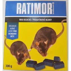 Rodenticid RATIMOR parafínové bloky 300 g