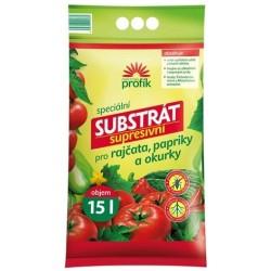 Profík Substrát supresivní pro rajčata, pappriky a okurky 15 l